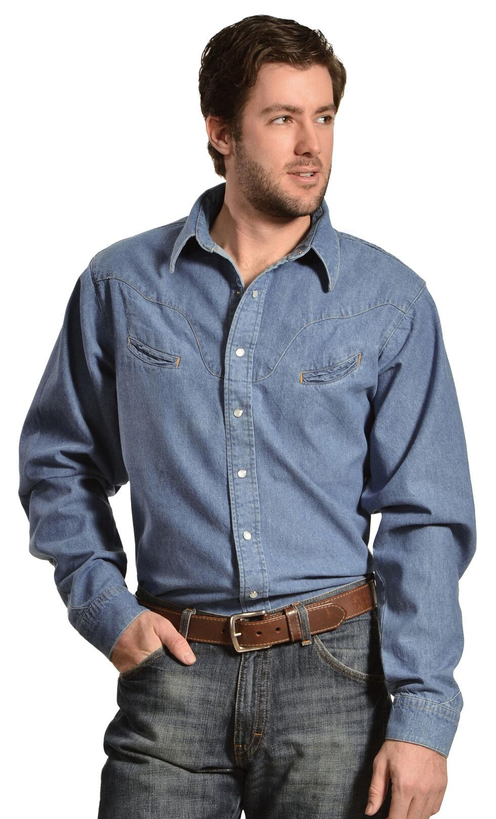 Schaefer Vintage Chisholm Denim Work Shirt, Denim, hi-res