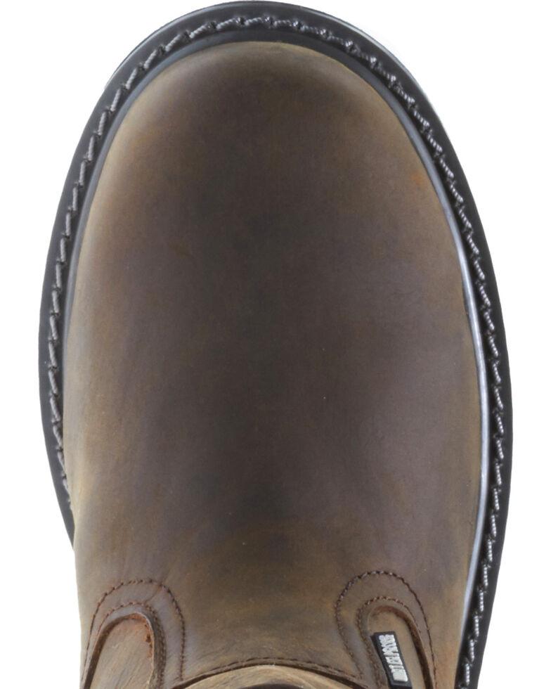 Wolverine Men's Floorhand Waterproof Wellington Work Boots - Steel Toe, Dark Brown, hi-res