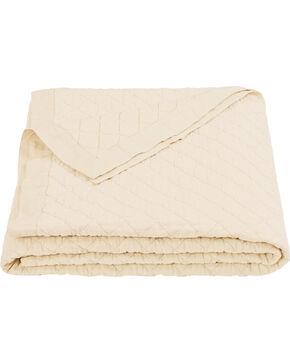 HiEnd Accents Diamond Pattern Cream Linen Full/Queen Quilt, Cream, hi-res