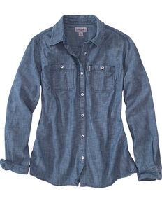 Carhartt Women's Milam Long Sleeve Chambray Shirt, Indigo, hi-res