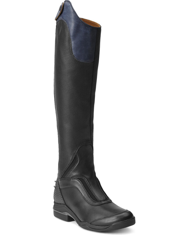 Ariat Women's V Sport Tall Zip Riding Boots, Black, hi-res
