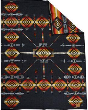 Pendleton Charcoal Pueblo Dwelling Heritage Robe Blanket  , Charcoal, hi-res