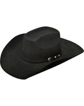 Ariat Men's Added Money 2X Wool Felt Cowboy Hat , Black, hi-res