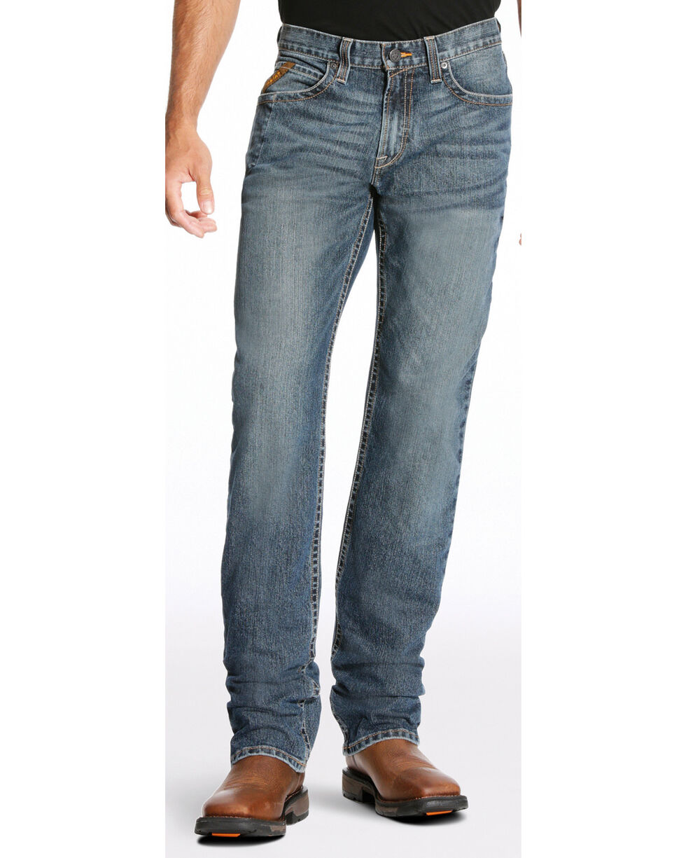 Ariat Men's Rebar M3 Edge Jeans - Straight Leg, Blue, hi-res