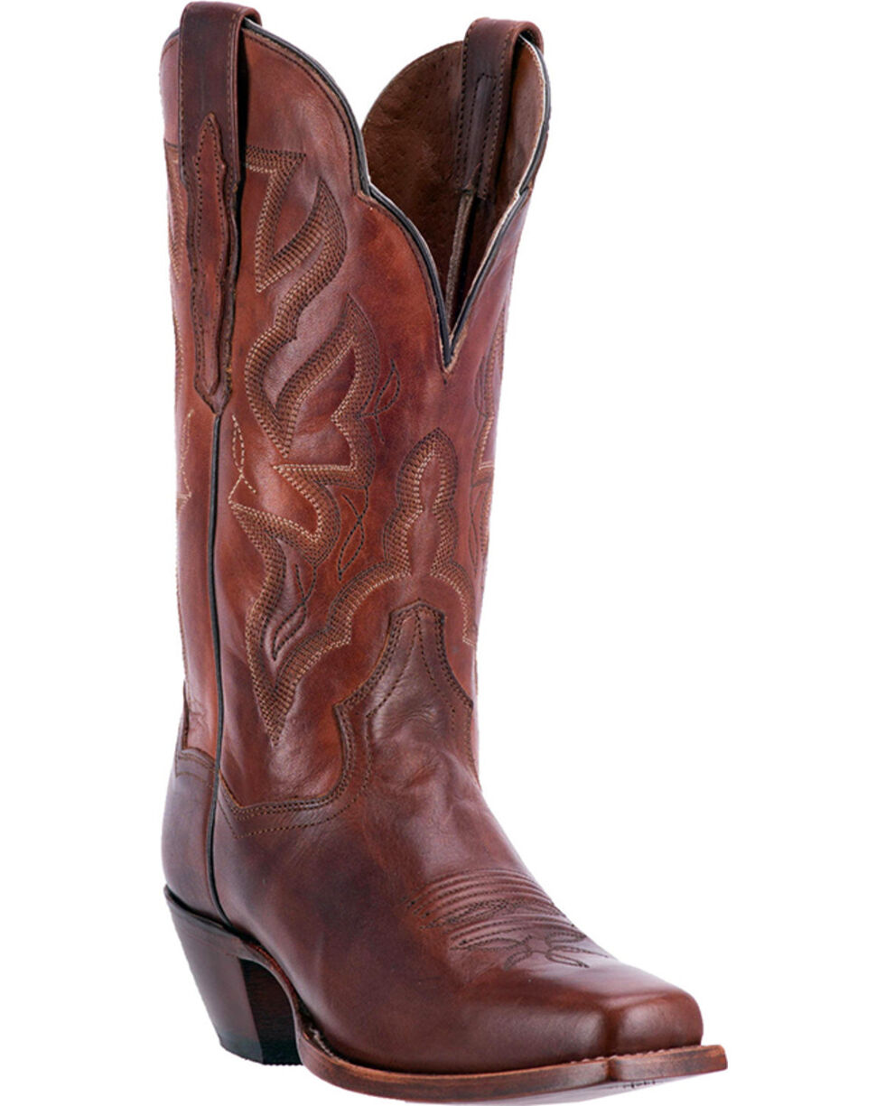 Dan Post Women's Darby Chestnut Brown Cowgirl Boots - Square Toe, , hi-res