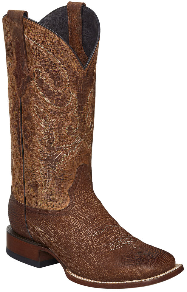 Lucchese Handmade Cognac Ryan Shark Cowboy Boots - Square Toe , Cognac, hi-res