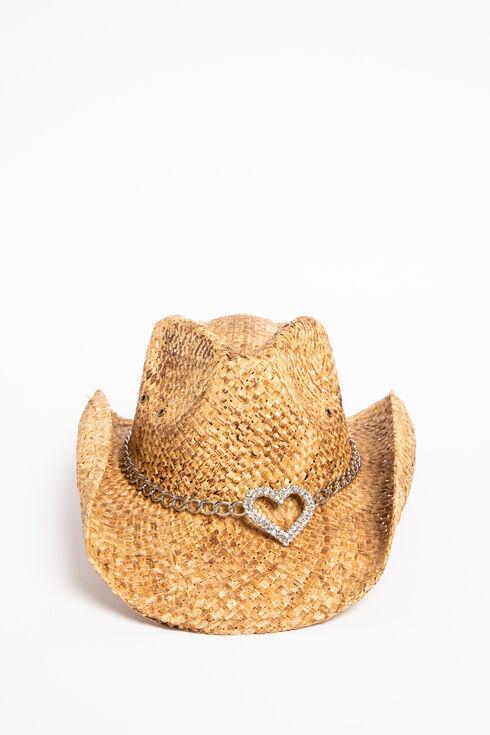 Shyanne Women's Heart Attack Cowboy Hat, Brown, hi-res