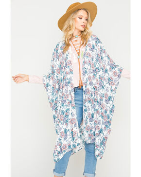 Sage the Label Women's Friday I'm In Love Kimono, Ivory, hi-res