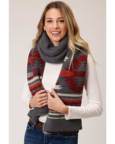 Stetson Women's Aztec Knit Sweater Scarf, Multi, hi-res