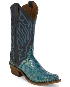 Nocona Women's Alize Western Boots - Snip Toe, Turquoise, hi-res