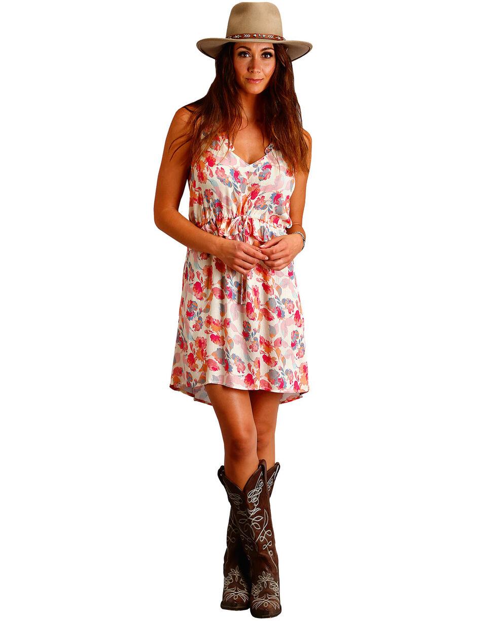 Stetson Women's Pink Watercolor Floral Print Dress , Pink, hi-res