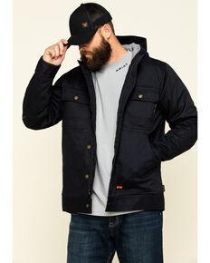 Cody James Men's FR Hooded Duck Work Jacket , Black, hi-res
