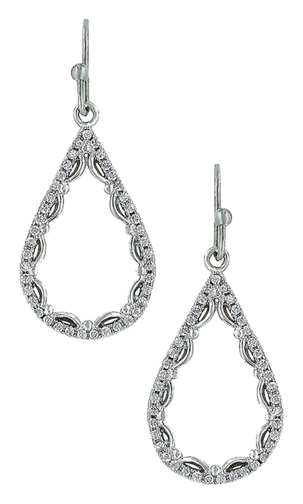 Montana Silversmiths Women's Laced Teardrop Earrings, Silver, hi-res