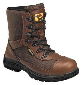 Avenger Boots Men's Waterproof Insulated Work Boots - Composite Toe, Brown, hi-res