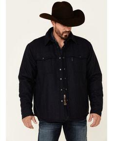 Outback Trading Co. Men's Solid Navy Harrison Snap-Front Jacket , Navy, hi-res