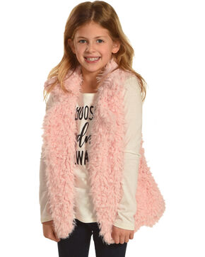 Self Esteem Girls' Choose Kindness Long Sleeve Tee and Sherpa Vest, Pink, hi-res