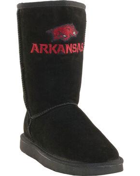 Gameday Boots Women's University of Arkansas Lambskin Boots, Black, hi-res