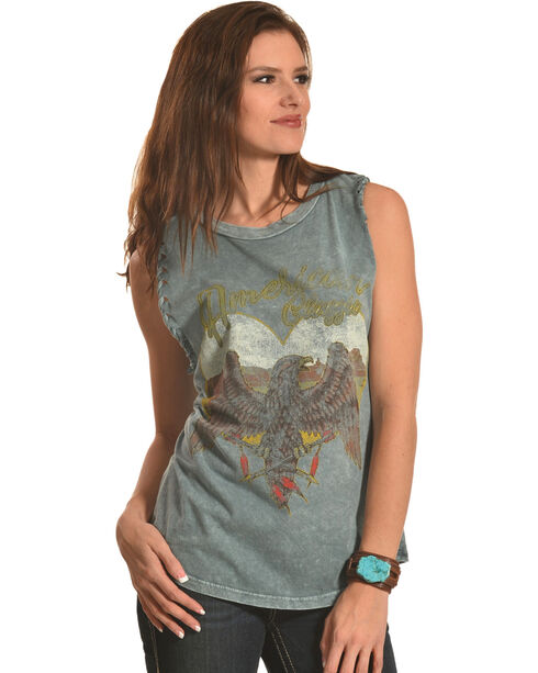 Obsessive Love Women's American Classic Braided Tank Top, Grey, hi-res