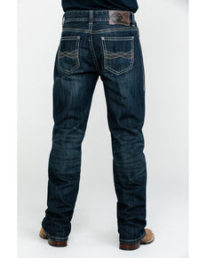 Rock & Roll Cowboy Men's Small W Stitch Double Barrel Dark Straight Jeans , Blue, hi-res