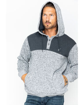 HOOey Men's Jimmy Hoodie Sweatshirt , Heather Grey, hi-res