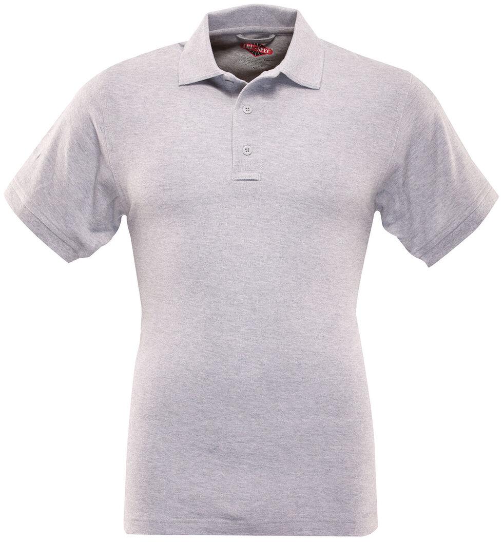 Tru-Spec Men's 24-7 Series Classic Cotton Polo Shirt - Extra Large Sizes (2XL - 5XL), Hthr Grey, hi-res