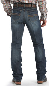 ab544ac1 Cinch Mens Silver Label Dark Wash Performance Jeans, Dark Stone, hi-res