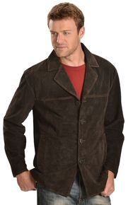 Scully Suede Leather Coat, Chocolate, hi-res