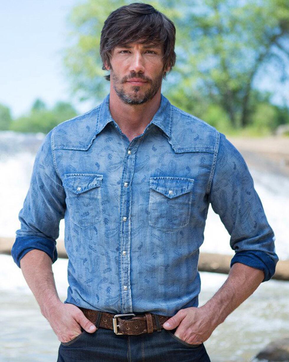 Ryan Michael Men's Indigo Malibu Jacquard Shirt, Indigo, hi-res