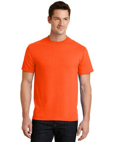 Port & Company Men's Core Blend Short Sleeve Work T-Shirt , Orange, hi-res