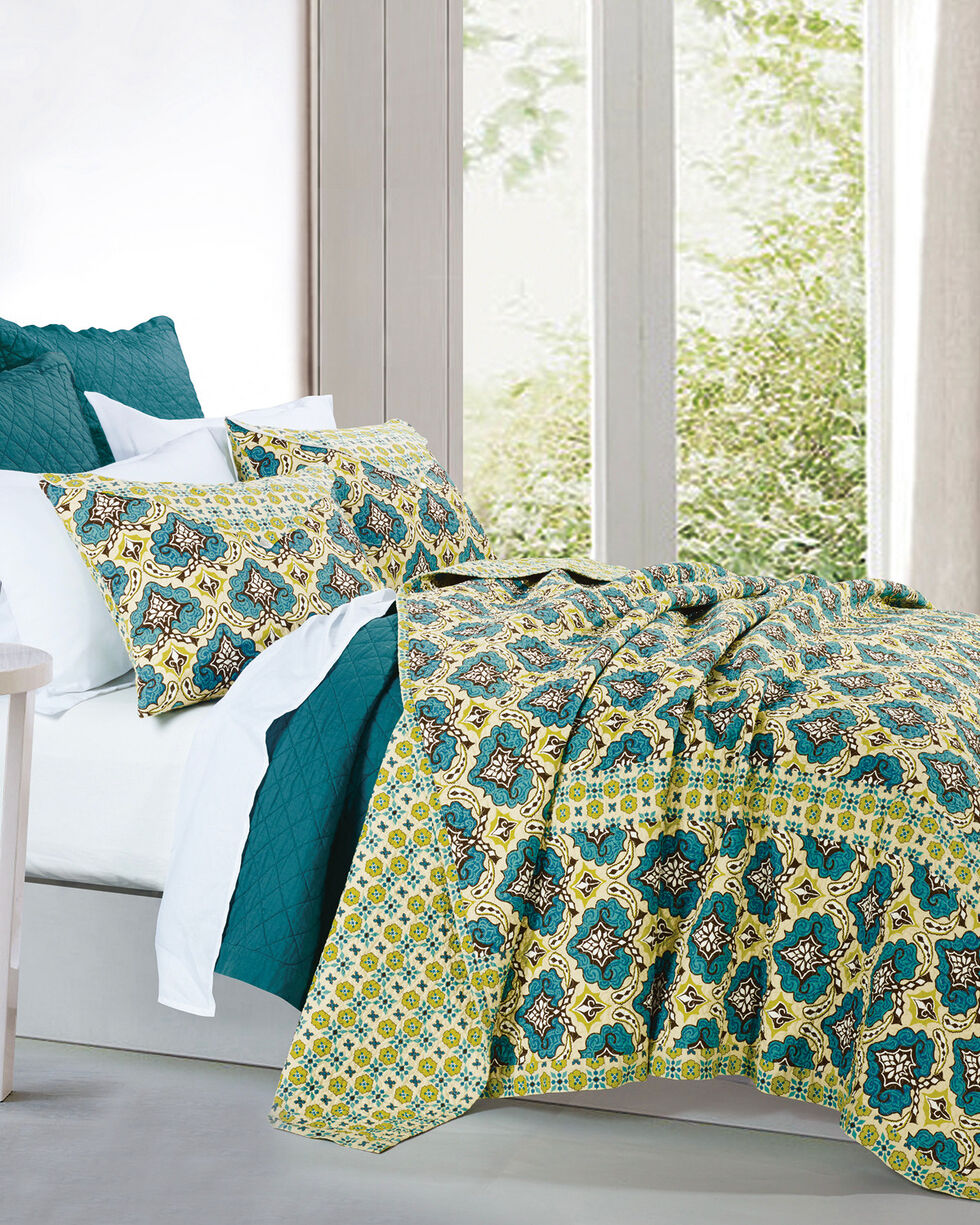HiEnd Accents Salado 3-Piece Quilt Set - King, Multi, hi-res