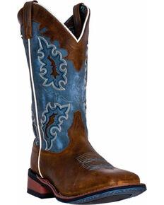 Laredo Isla Cowgirl Boots - Square Toe, Tan, hi-res