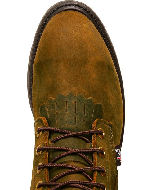 "Justin Original 8"" Lace-Up Work Boots - Steel Toe, Brown, hi-res"