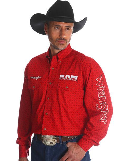 Wrangler Men's Red RAM Logo Western Shirt , Red, hi-res