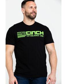 Cinch Men's Lime Logo Graphic Short Sleeve T-Shirt , Black, hi-res