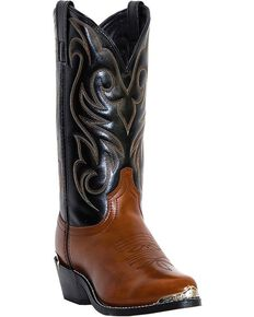 Laredo Nashville Cowboy Boots - Medium Toe, Peanut, hi-res