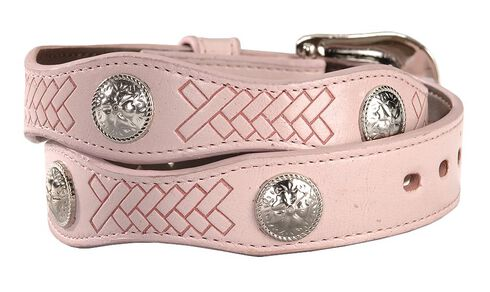 Exclusive Gibson Trading Co. Girls' Pink Scalloped Concho Belt, Pink, hi-res