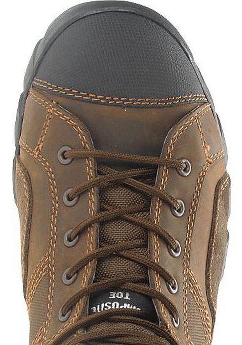 "Caterpillar 6"" Argon Waterproof Lace-Up Work Shoes - Composition Toe, Dark Brown, hi-res"