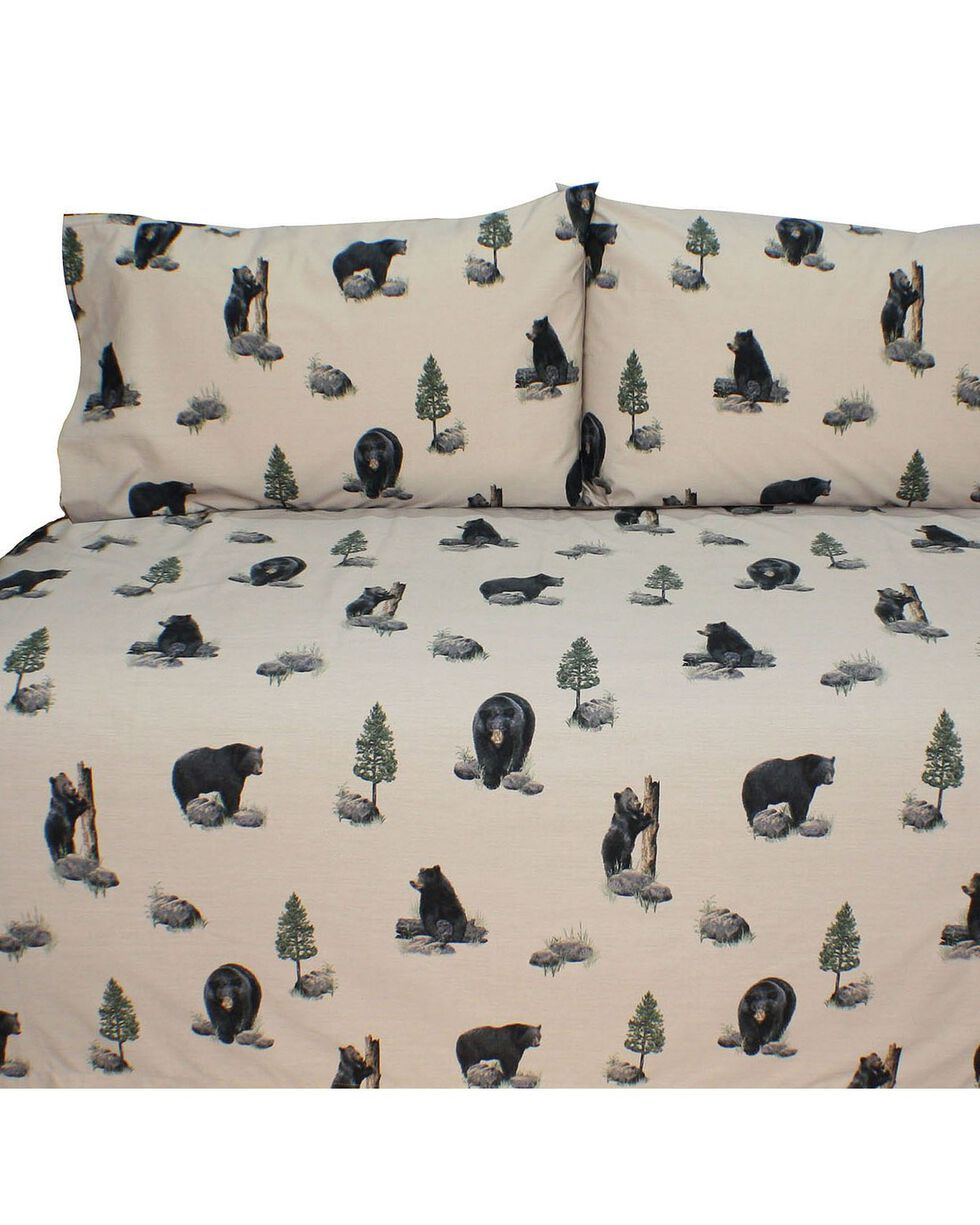 Blue Ridge Trading Bears Twin Sheet Set, Black, hi-res