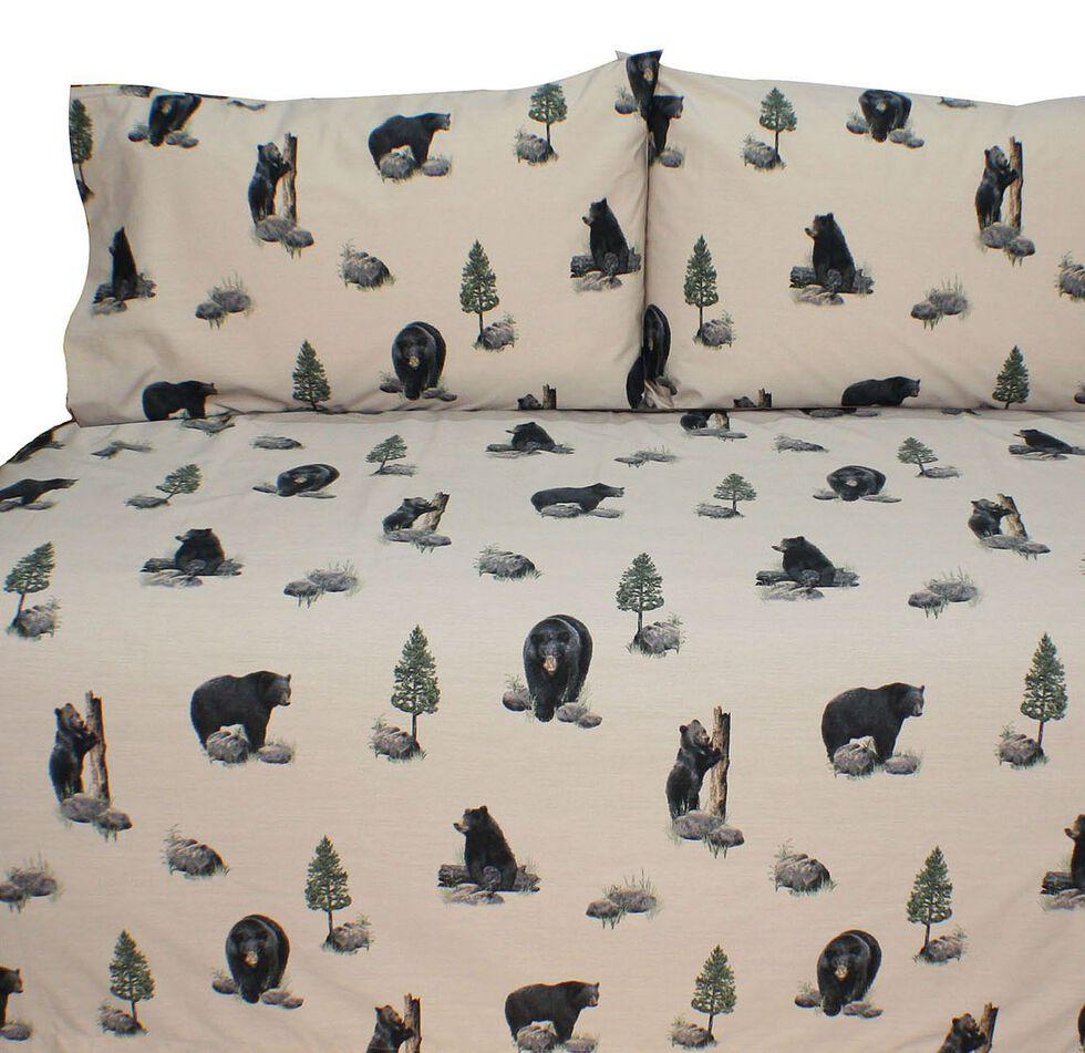 Blue Ridge Trading Bears Queen Sheet Set, Black, hi-res