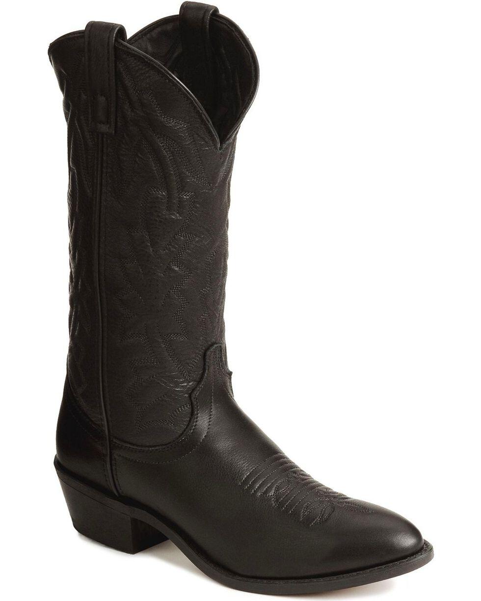 Laredo Deertan Cowboy Boots, Black, hi-res