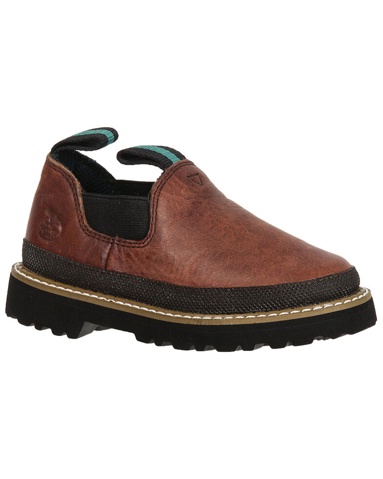 Georgia Toddler Boys' Leather Romeo Shoes, Brown, hi-res