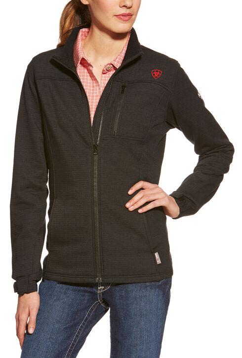 Ariat Women's Flame-Resistant Polartec Powerstretch Jacket, Black, hi-res