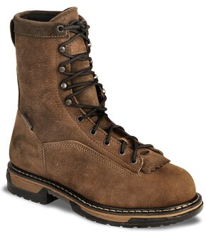 "Rocky 9"" IronClad Waterproof Work Boots - Steel Toe, Copper, hi-res"