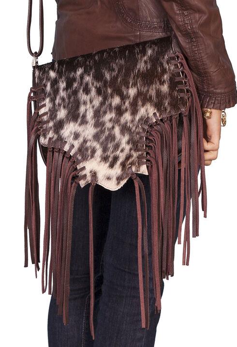 Scully Hair-on-Hide Calf Fringe Shoulder Bag, Animal Prt, hi-res