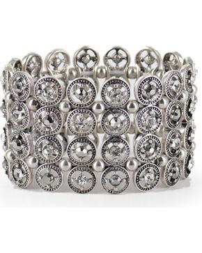 Shyanne Women's Vintage Cuff Bracelet, Silver, hi-res