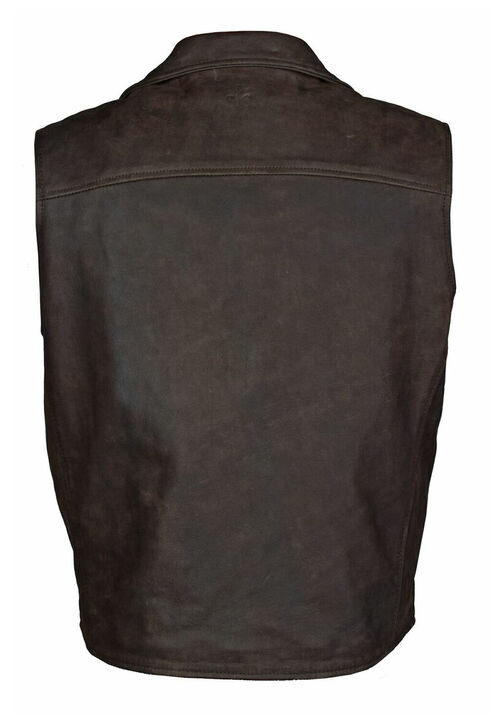 STS Ranchwear Men's Leather Ace Vest - 2XL-3XL, Brown, hi-res