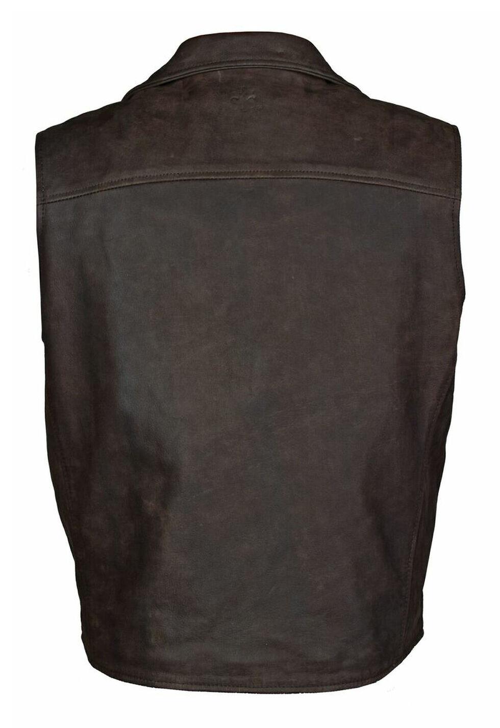 STS Ranchwear Men's Leather Ace Vest - 2XL-3XL, , hi-res