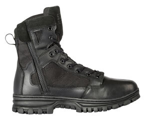 "5.11 Tactical EVO 6"" Side-Zip Work Boots - Round Toe, Black, hi-res"