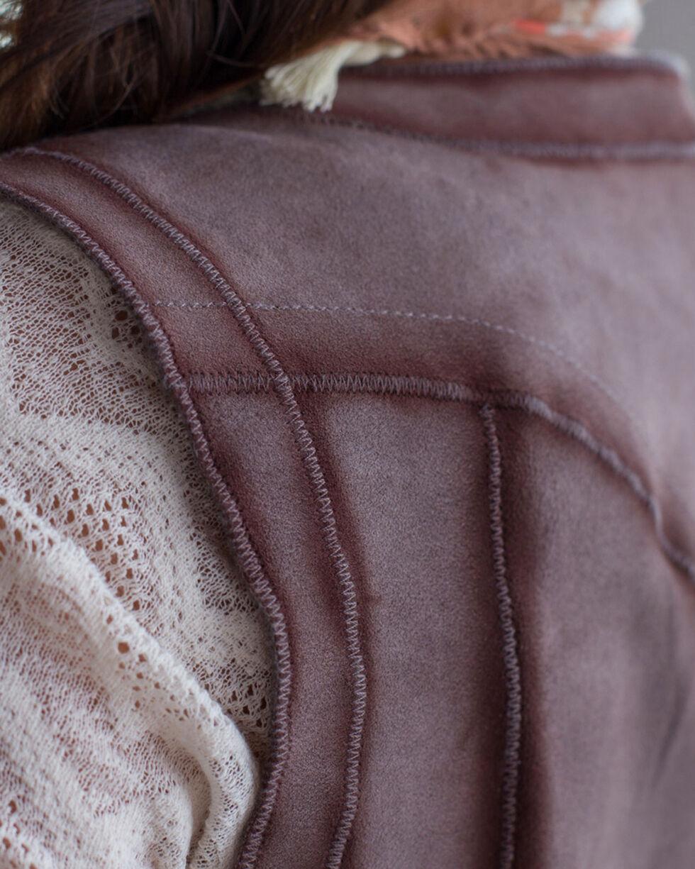 Ryan Michael Women's Grey Reversible Leather Vest , Grey, hi-res