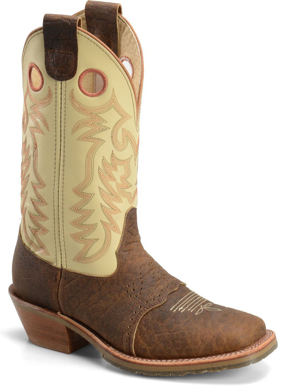 Double H Men's Domestic ICE Buckaroo Western Work Boots - Square Toe, Brown, hi-res